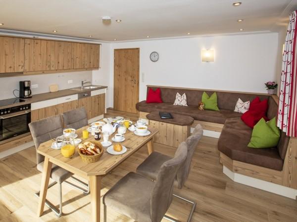 Küche, Wohnbereich Wohnung 4